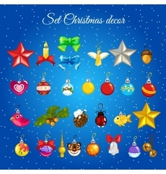 Great set toys for christmas decorations vector