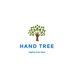 Hand tree for charity community education vector