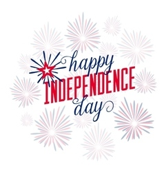 Happy Independence Day July 4th Fourth - vector image