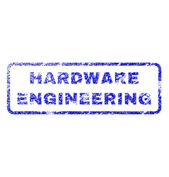Hardware engineering rubber stamp vector