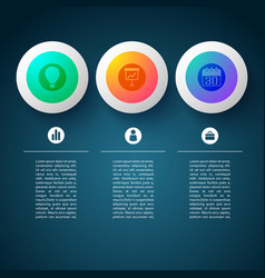 icon infographic circles background vector image