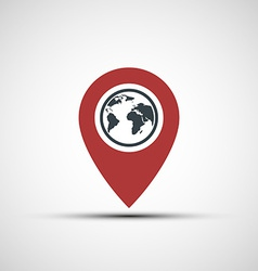 icon pointer with the planet earth vector image