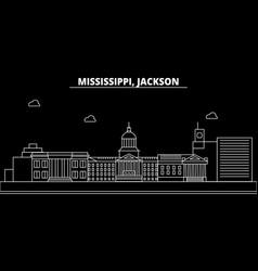 Jackson silhouette skyline usa - jackson vector