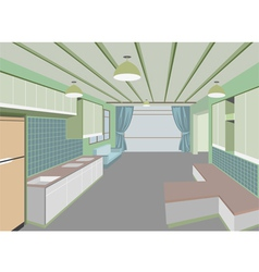 Kitchen room vector