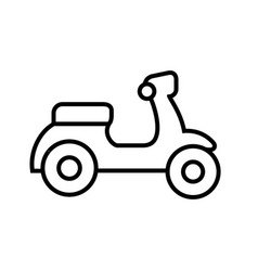 lineart style motorcyle logo icon vector image