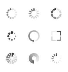 loading icons set vector image