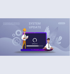Maintenance update system upgrate concept vector