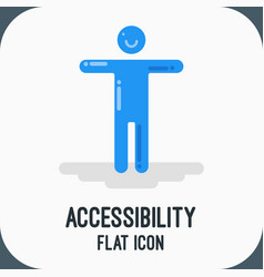 Material design icon of accessibility flat vector