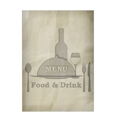 menu stencil from old paper pattern texture vector image