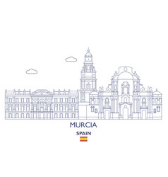 murcia city skyline vector image