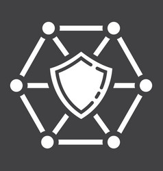 network protection glyph icon seo and development vector image