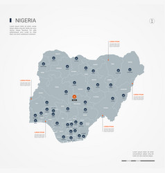 Nigeria infographic map vector