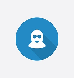 Offender Flat Blue Simple Icon with long shadow vector