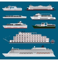 Passenger ships infographic vector