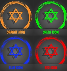 Pentagram icon Fashionable modern style In the vector