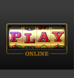play online slot machine games banner gambling vector image