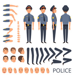 policeman constructor security bodyguard vector image