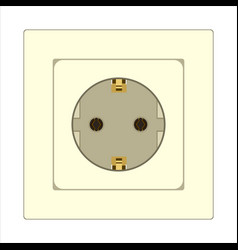 power electrical outlet vector image