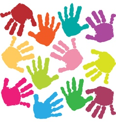 Prints of hands of the child vector
