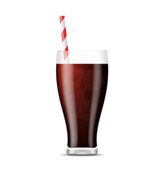 realistic 3d detailed fizzy drink cola vector image