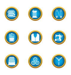 repair clothing icons set flat style vector image