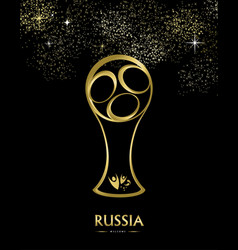 Russia soccer match event gold award background vector