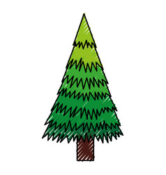 Scribble christmas tree cartoon vector