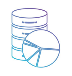 Server hosting storage icon and available space vector