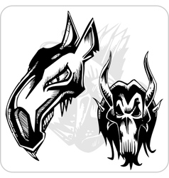 Set - Aggressive Ox vector