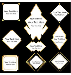 set of art deco art nuvo labels and frames vector image