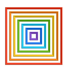 Set of colorful square frames vector