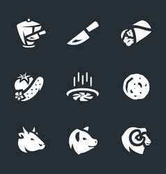 set of shawarma icons vector image