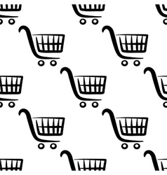 Shopping carts seamless pattern vector image