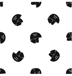 snowboard helmets pattern seamless black vector image