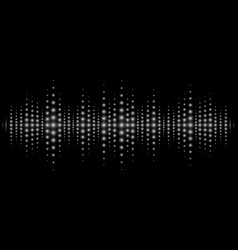 Sound waves light effect music digital equalizer vector