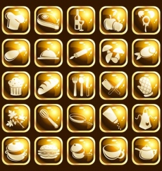 square highgloss food icons vector image