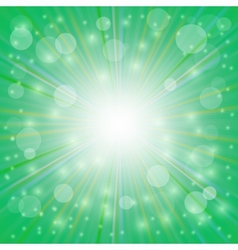 Sun Green Background vector image