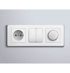 Switchs Sockets Realistic Panel vector
