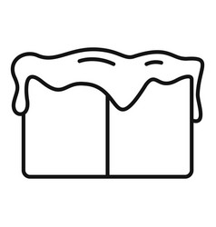 Toffee cube icon outline style vector