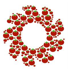 Turbine collage of tomato vector