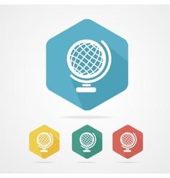 Vecrot globe icon flat vector