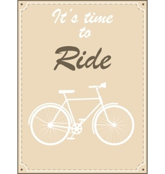 Vintage bike retro vector