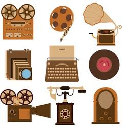 Vintage gadgets vector