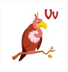 Vulture Funny Alphabet Animal vector image