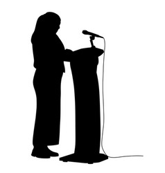 woman public speaking vector image
