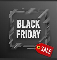 black friday sale tag shop banner design template vector image