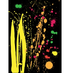 Colored splashes vector image
