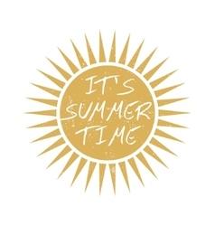 Summer time motivational card vector image