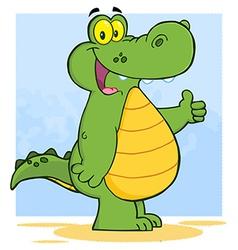 Alligator Or Crocodile Showing Thumbs Up vector image