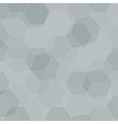 Background with grey honeycombs vector image